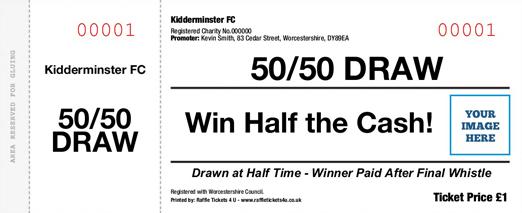 50/50 Draw Ticket