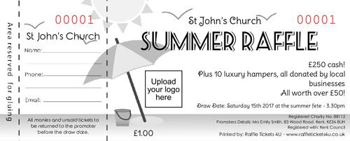 Summer Raffle Ticket 3